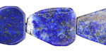 Lapis Natural Cut Teardrop Slice 21-25x15-18mm