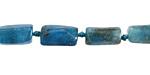 Pacific Blue Apatite Natural Cut Tube 10-13x6-7mm