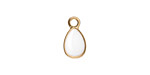 Zola Elements White Enamel Matte Gold Finish Teardrop Charm 8x14mm