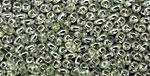Luster Prairie Green MiniDuo 2x4mm Seed Bead