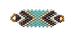 Grasshopper Pie Hand Woven Focal Piece 36x12mm
