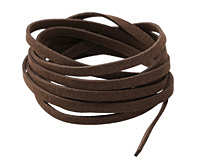 Dark Brown Microsuede Flat Cord 5mm