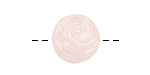 Rose Quartz Carved Flower Round 16-17mm