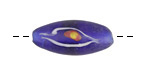 African Recycled Glass Cobalt Rice w/ Eye 30x11mm