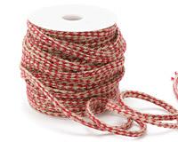 Natural & Red Woven Hemp Rope 4mm - 19 yard spool