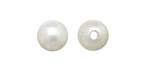 Eggshell White Shell Pearl Round (large hole) 10mm