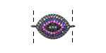 Mirage Mix Pave CZ Gunmetal (plated) Eye Focal Link 21x13mm