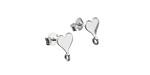 Nina Designs Sterling Silver Heart w/ Loops Post Earring w/ Back 7x10mm