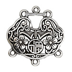 Zola Elements Antique Silver (plated) Good Fortunes Lock Focal 41x43mm