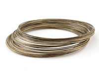 Memory Wire Antique Brass (plated) Large Bracelet .5 oz.