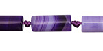 Purple Line Agate Tube 20x8mm