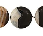 Black Sardonyx Puff Coin 30mm