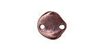 Greek Bronze (plated) Small Wavy Disk Link 15mm