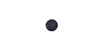 Matte Black Resin Round Cabochon 6mm