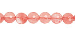 Cherry Quartz Faceted Round 8mm