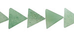 Green Aventurine Triangle 11-12x13mm