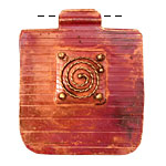 Patricia Healey Copper Large Rope Spiral Pendant 40x47mm