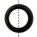 Black Onyx Drilled Donut 38-40mm