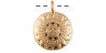 Zola Elements Matte Gold Finish Ornate Medallion Coin Focal 18x23mm