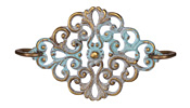 Vintaj Vogue Natural Brass Scrolled Ironwork 52x30mm