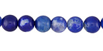 Cobalt Fire Agate Round 8mm