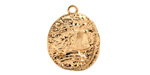 Zola Elements Matte Gold Finish Relic Coin Medallion 18x22mm