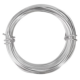 Artistic Wire Aluminum Natural 12 gauge, 12 meters