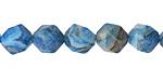 Larimar Blue Crazy Lace Agate Star Cut Round 10mm