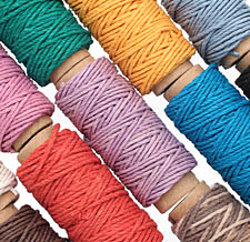 Multi Color Hemp Twine 20 lb, 29 ft x 12 colors