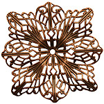 Stampt Antique Copper (plated) Filigree Compass Rose 48mm