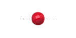 Tagua Nut Red Round 9mm