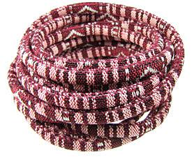 Bordeaux Round Woven Cotton Cord 6mm