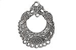 Zola Elements Antique Silver (plated) Small Fancy Floral Chandelier 25x32mm
