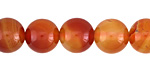 Carnelian (Natural-Orange) Round 12mm