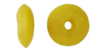 African Recycled Glass Crackled Limoncello Tumbled Donut 17-19mm
