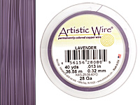 Artistic Wire Lavender 28 gauge, 40 yards