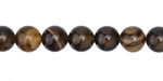 Dark Brown Line Agate Round 8mm