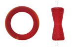 Cherry Red Recycled Glass Toggle Clasp 23mm, 22mm Bar