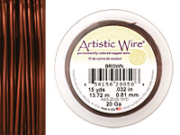 Artistic Wire Brown 20 gauge, 15 yards