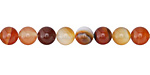 Carnelian (natural) Round 6mm