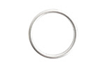 Nunn Design Sterling Silver (plated) Open Frame Small Hoop 24.5mm