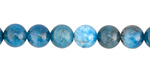 Pacific Blue Apatite (A) Round 8mm
