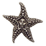 Green Girl Pewter Starfish Fairy 50mm