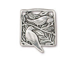 TierraCast Antique Silver (plated) Botanical Bird Pendant 23x29mm