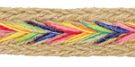 Natural w/ Rainbow Chevron Hemp Ribbon 15mm