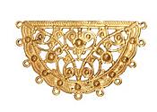 Brass Fanned Boho Filigree Link 50x30mm