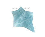 Amazonite Rough Cut Starburst Focal 25-30x31-36mm