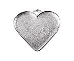 Nunn Design Sterling Silver (plated) Large Heart Bezel Pendant 33x30mm