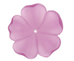 Matte Light Amethyst Lucite 5 Petal Flower 10x36mm