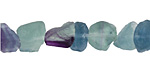 Rainbow Fluorite (matte) Cut Nugget 6-13x7-12mm